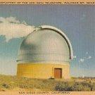 San Diego Telescope Original Vintage Postcard