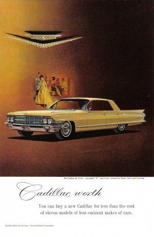 1962 CADILLAC Vintage Auto Print Ad