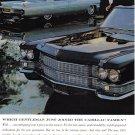 1963 CADILLAC Vintage Auto Print Ad