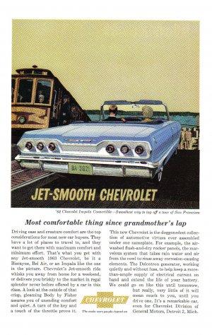 1963 CHEVY IMPALA Vintage Auto Print Ad