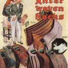 1941 Original FATHER'S DAY Interwoven Socks Vintage Print Ad