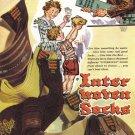 1947 Original Interwoven Socks FATHER'S DAY Vintage Print Ad