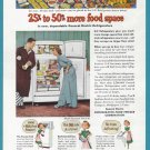 1951 G-E REFRIGERATOR Vintage Print Ad