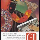 1956 C-I COATED PAPERS Vintage Print Ad