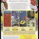1949 SOUTHERN CALIFORNIA Vintage Travel Print Ad