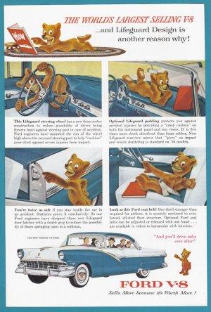 1956 FORD VICTORIA Vintage Auto Print Ad