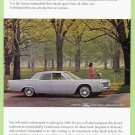 1965 LINCOLN CONTINENTAL Vintage Auto Print Ad