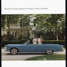 1964 LINCOLN CONTINENTAL Vintage Auto Print Ad