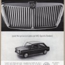 1963 MG SPORTS SEDAN Vintage Auto Print Ad