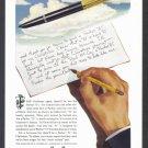 1945 PARKER PEN Vintage Print Ad