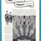 1937 HAMILTON WATCHES Vintage Print Ad