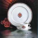 1981 FITZ & FLOYD China Tableware Magazine Print Ad