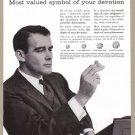1956 DE BEERS DIAMONDS Vintage Magazine Ad