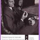 1958 DE BEERS DIAMONDS Vintage Magazine Print Ad