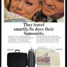 1965 SAMSONITE LUGGAGE Vintage Magazine Print Ad