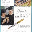1949 PARKER PEN For Graduation Vintage Magazine Print Ad