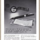 1963 SCHEAFFER PENS Vintage Magazine Print Ad