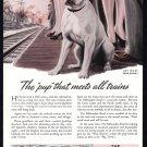1944 MILWAUKEE ROAD RAILROAD WWII-Era Print Ad