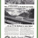 1954 NORTHERN PACIFIC RAILROAD Vintage Print Ad