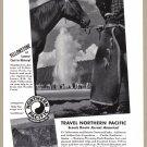 1940 NORTHERN PACIFIC RAILWAY Vintage Print Ad