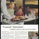 1952 NEW YORK CENTRAL RAILROAD Vintage Print Ad