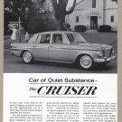 1963 STUDEBAKER Vintage Auto Print Ad