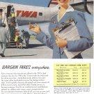 1954 TWA Airlines Vintage Print Ad