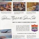 1948 UNITED AIRLINES Vintage Print Ad