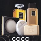 1987 COCO CHANEL Beauty Products Vintage Print Ad