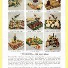 1950 AIR FRANCE Airlines Vintage Print Ad