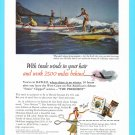 1953 PAN AM AIRLINES Vintage Print Ad