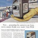 1957 KODAK MOVIE CAMERA Vintage Magazine Ad