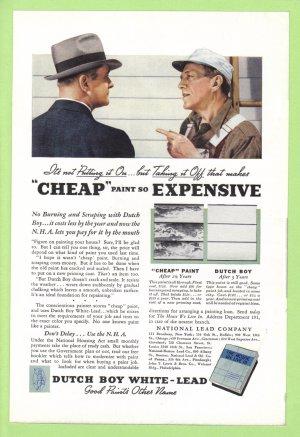 1935 DUTCH BOY HOUSE PAINT Vintage Print Ad