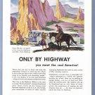 1946 GREYHOUND BUS Vintage Illustrated Print Ad
