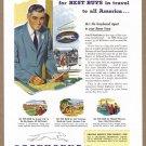 1952 GREYHOUND BUS Vintage Illustrated Print Ad