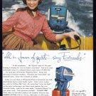 1955 EVINRUDE MOTORBOAT Vintage Print Ad