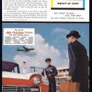 1957 AVIS Rent A Car Vintage Print Ad