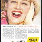 1956 HERTZ Rent A Car Vintage Print Ad