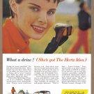 1957 HERTZ Rent A Car Vintage Print Ad