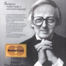 1986 MASTERCARD Andre Previn Vintage Print Ad