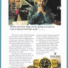 1995 PLACIDO DOMINGO Original ROLEX Watch Print Ad