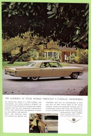 1964 FLEETWOOD CADILLAC Vintage Auto Print Ad
