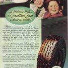 1936 FIRESTONE TIRES Vintage Print Ad
