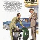 1949 GENERAL TIRE Vintage Print Ad