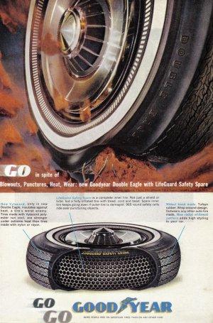 1963 GOODYEAR TIRES Vintage Print Ad