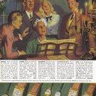 1948 HAMILTON WATCHES Vintage Magazine Ad