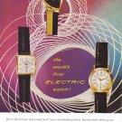 1957 HAMILTON WATCHES Vintage Magazine Ad