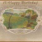 HAPPY BIRTHDAY Vintage Scenic Illustrated Post Card