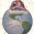 1908 VINTAGE Happy New Year POSTCARD