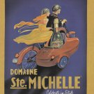 CHAMPAGNE Illustrated Print Ad 2002 Domaine Ste. Michelle